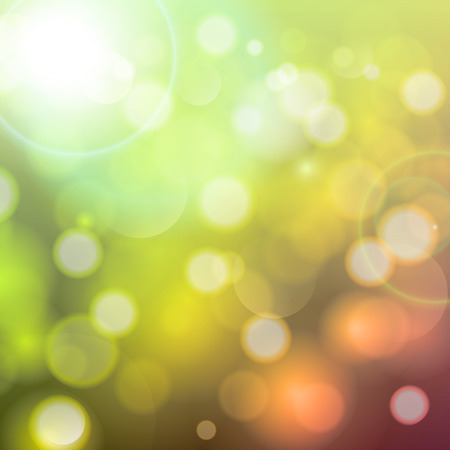 Holiday background with festive descending lights and bokeh. Vector