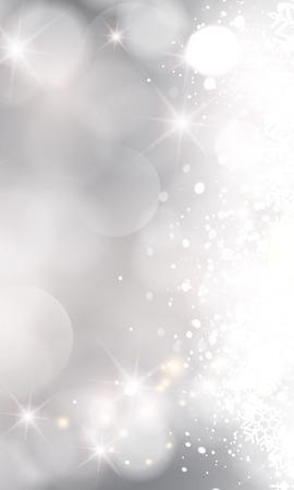 Glittery steekt zilveren abstracte achtergrond van Kerstmis.