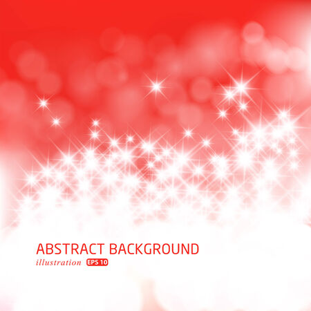 Defocused abstract red lights background.