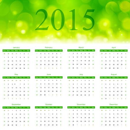 Design template calendar 2015. Vector