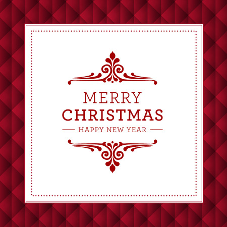 Modern Christmas card. Vector
