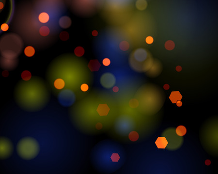 greetingcard: Winter bokeh background.