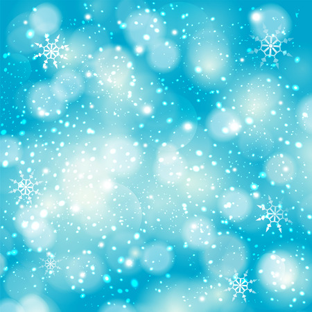 frosting: Winter bokeh background with sparkle stars. Illustration