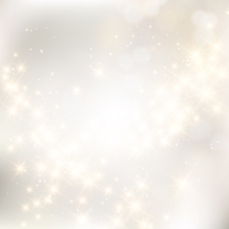 Glittery lights silver abstract Christmas background. Vettoriali