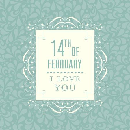 свадебный: Счастливый день Святого Валентина карта. Иллюстрация