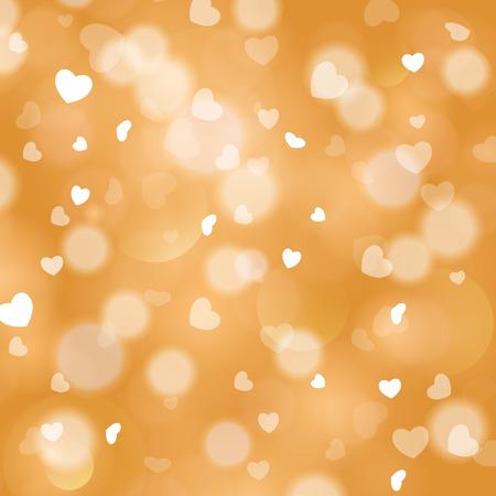 shiny hearts: Shiny hearts bokeh light Valentine Illustration