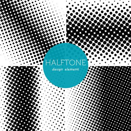 halftones: Set of halftones background illustration.