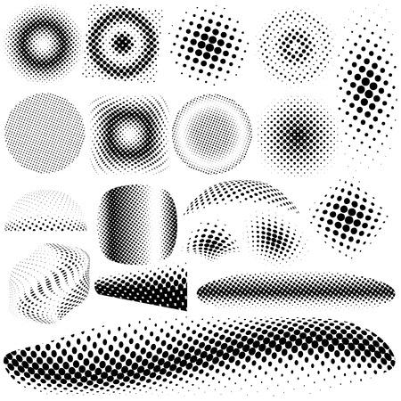 Set different halftone dots pattern.