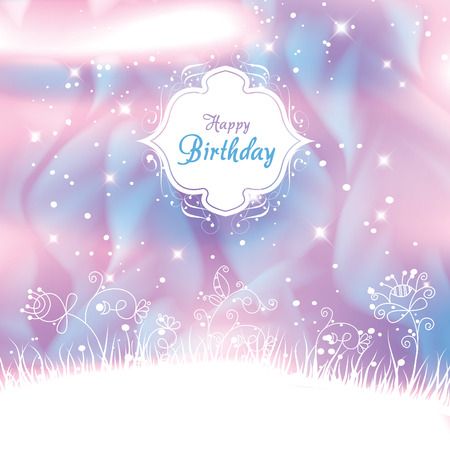 Elegant Birthday Card Template Royalty Free Cliparts Vectors And