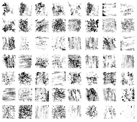 Large set of modern grunge background textures illustration.
