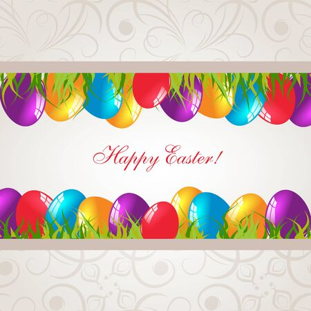 Modern Easter background with place for text. Holiday background. Vector