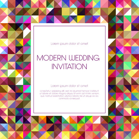 Geometrical invitation card. Illustration
