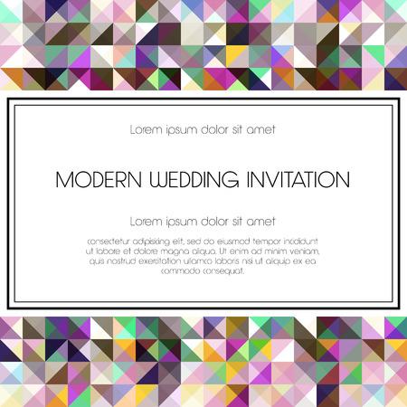merci: G�om�trique carton d'invitation. Parfait comme invitation ou annonce.