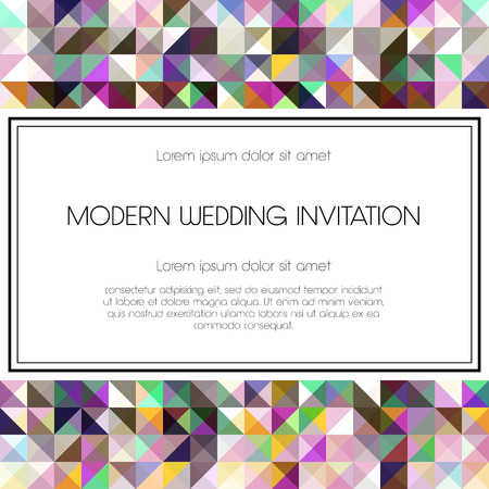 thank you card: Geometrical invitation card. Perfect as invitation or announcement. Illustration