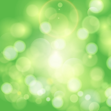 Green sunny good mood spring background. Abstract background.