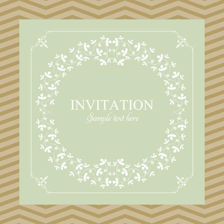 Hochzeits-Karte oder Einladung mit floral Ornament Hintergrund. Perfekt als Einladung oder Ankündigung.