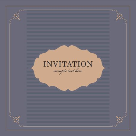 announcement: Wedding card or invitation with floral ornament background. Perfect as invitation or announcement.