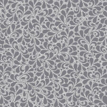 seamless floral: Black floral seamless pattern.