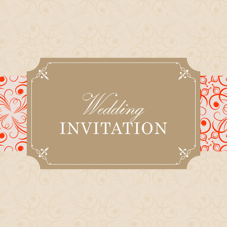 invitation background: Wedding card or invitation with floral ornament background. Perfect as invitation or announcement.