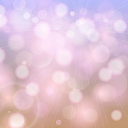 Abstract bokeh in paarse toon. Feestelijk, vintage achtergrond met onscherpe lichten template. Stock Illustratie