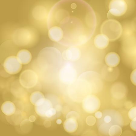Abstracte twinkelden lichte achtergrond met bokeh onscherpe gouden lichten. Stock Illustratie
