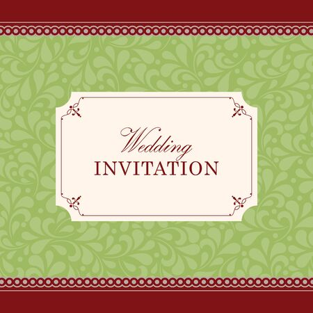 wedding background: Wedding card or invitation with floral ornament background. Perfect as invitation or announcement.