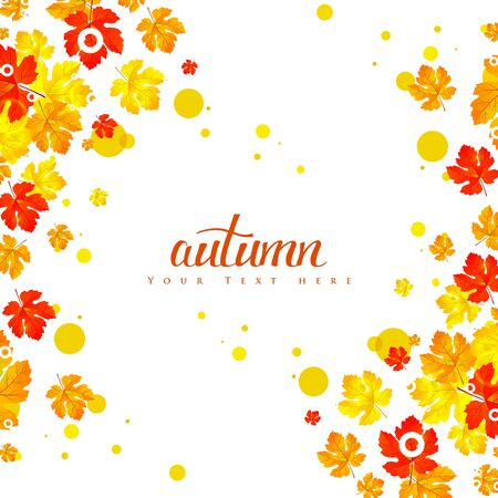 autumn leaves background: Maple autumn leaves background.