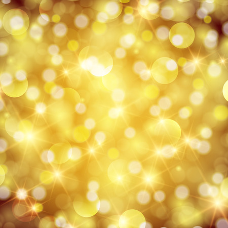 Abstract twinkled bright background with bokeh defocused red lights.