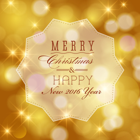luxury merry christmas and happy new year card design perfect as invitation or announcement
