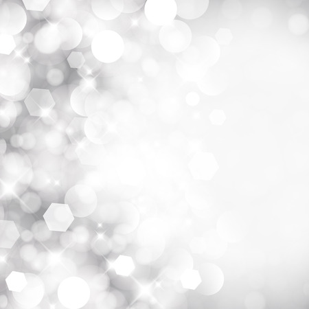Glittery lights silver abstract Christmas background.  イラスト・ベクター素材