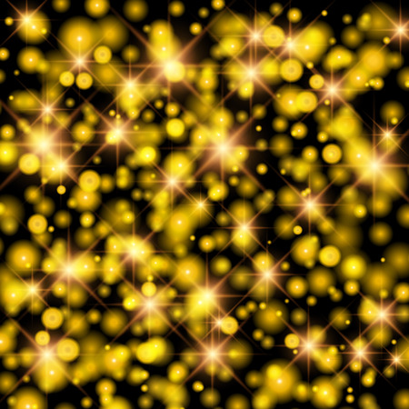 bright lights: Abstract twinkled bright background with bokeh defocused golden lights.