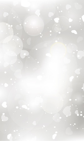 glittery: Glittery lights silver Valentines day background from hearts. Illustration