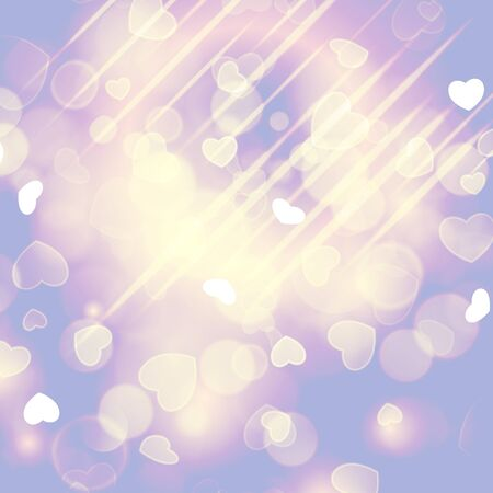 outdoor glamour: Bokeh light vintage background. Valentines day background. Illustration