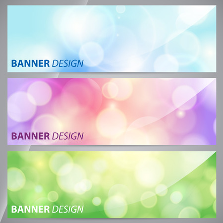 background banner: Banners, headers abstract lights.