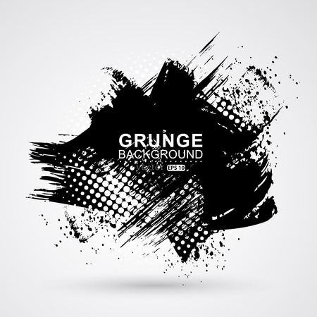 grunge brush: Figured brush strokes brush and ink. Illustration
