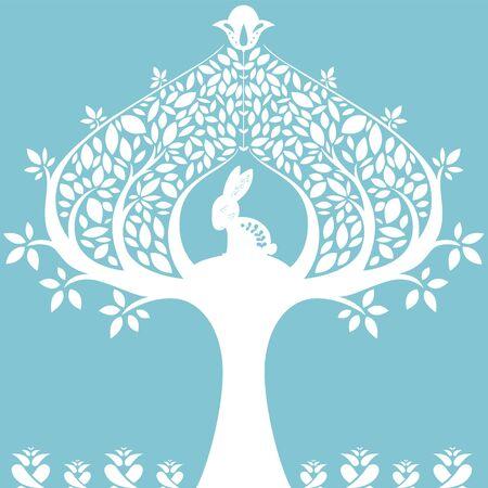 árbol estilizado abstracto.
