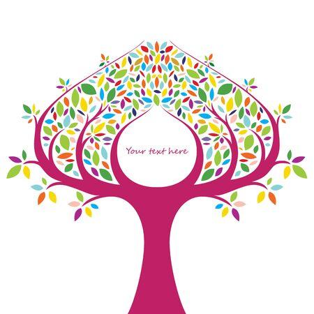 stylized tree: Abstract stylized tree.
