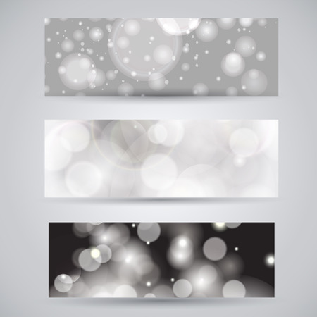 glittery: Glittery lights silver abstract banner.