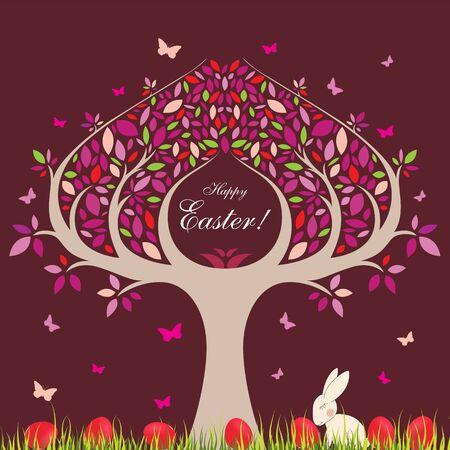easter tree: Easter tree. Illustration