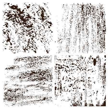 Grunge textures set.