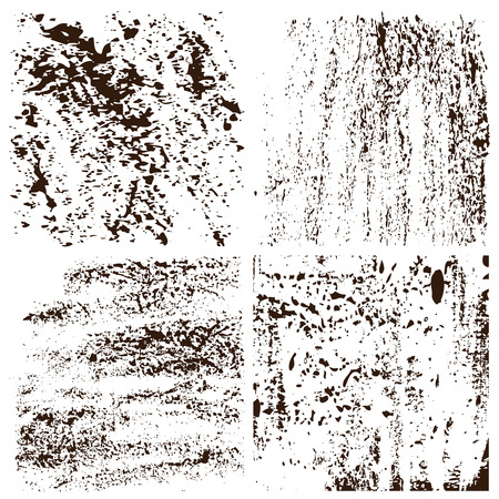 blots: Grunge textures set.