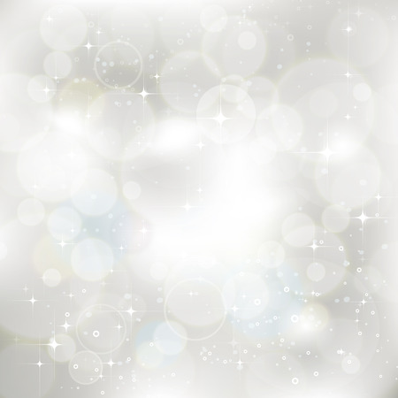 Glittery silver abstract Christmas background Stock Illustratie