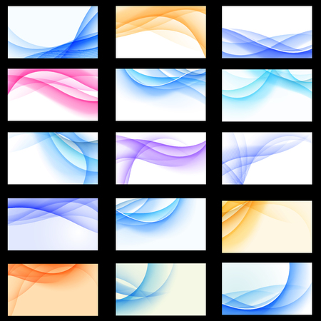 id card: Set of abstract multicolored backgrounds