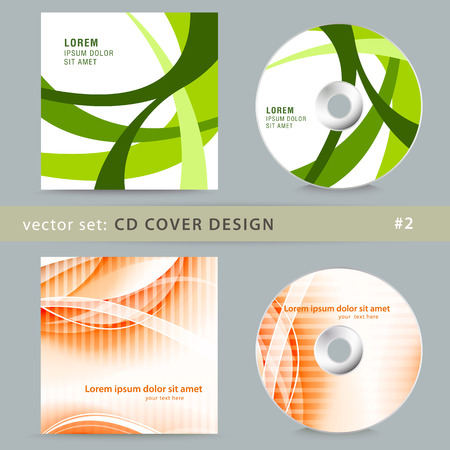 Set of cd cover design template design.