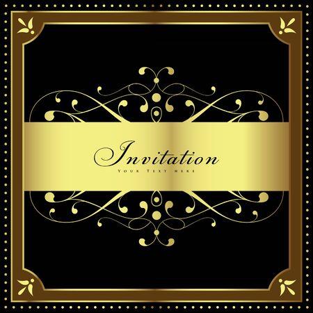 럭셔리 빈티지 배경입니다. 웨딩 카드 또는 꽃 장식 배경 가진 초대. 초대 또는 발표로 완벽합니다. 일러스트