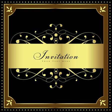 Luxury vintage background. Wedding card or invitation with floral ornament background. Perfect as invitation or announcement.