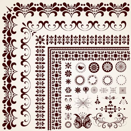 calligraphic design: Calligraphic design elements and page decoration.