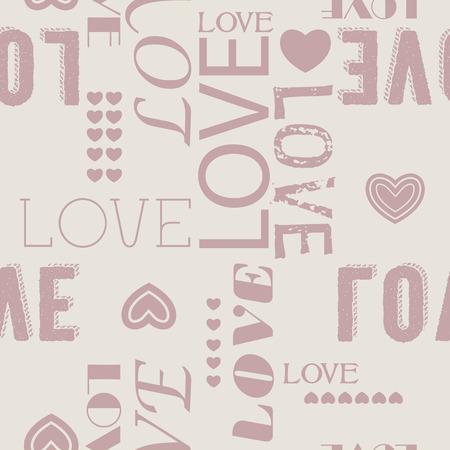 love shape: Vintage seamless love heart shape pattern.