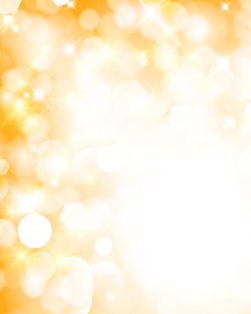 Resumen brillante fondo brillante con bokeh defocused luces doradas Ilustración de vector