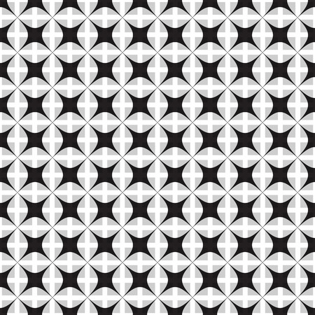 gouache: Monochrome seamless pattern. Illustration